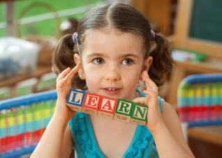 Child with LEARN blocks